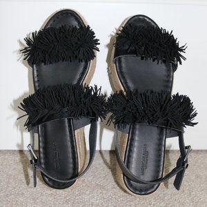 AE Fringe Platform Sandals